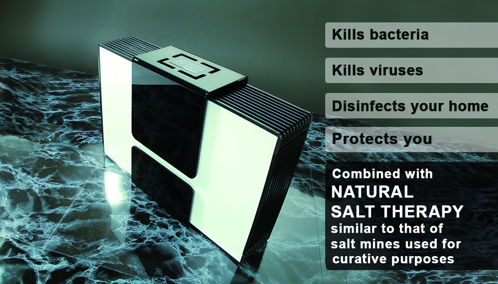 essencAir air purifier combined with natural salt therapy